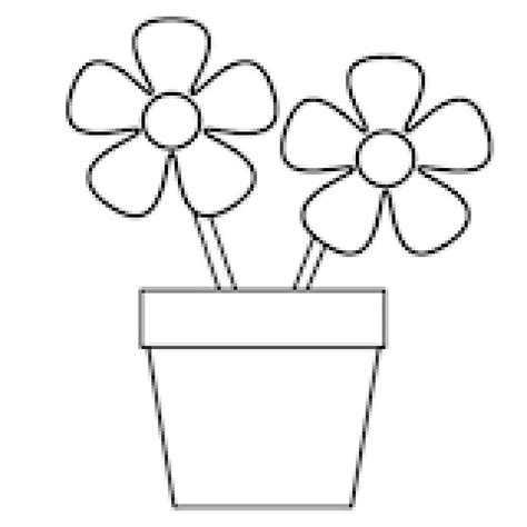 easy coloring pages flowers pictures outline drawings of flower pot drawing art