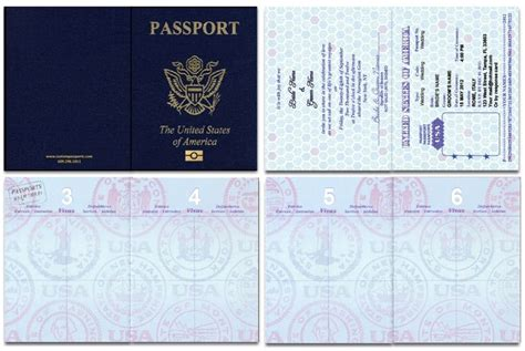 Us Blank Passport Template Invitation Templates Education Pinterest Passport Template Us Visa Photo Template