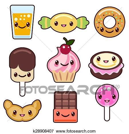 clipart cibo clip caramella kawaii cibo caratteri k28908407
