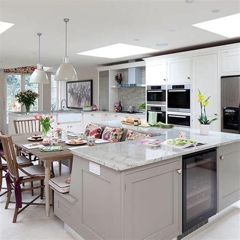 pale grey kitchen with island unit kitchen decorating