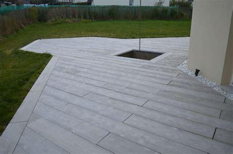 terrasse beton terrasse beton effet bois