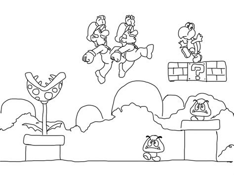 8 Bit Mario Coloring Pages by Free Coloring Pages Of Bad Mario