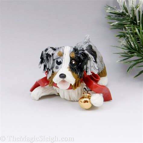australian shepherd christmas ornament ball porcelain