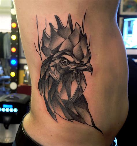 rooster side tattoo best tattoo ideas amp designs