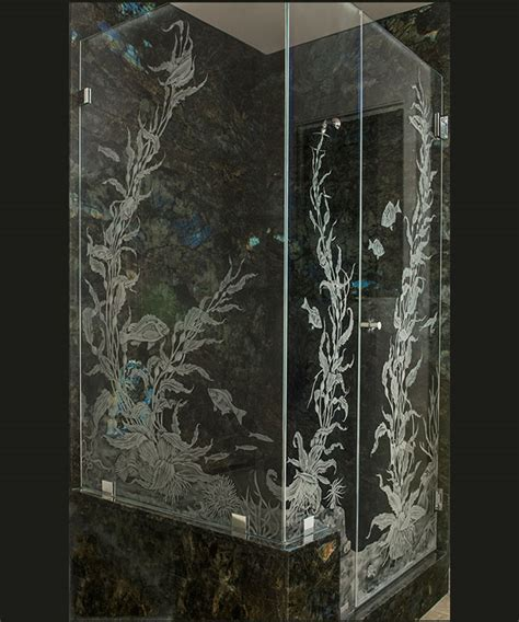 Sandblasted Glass Shower Doors Etched Glass Shower Doors Bathroom Idea Cbd Glass Etched Shower Door With The Invention Of