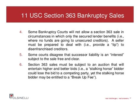 Section 363 Sale by Distressed Asset Sales Both In Bankruptcy And Out Of Court Alter Feb
