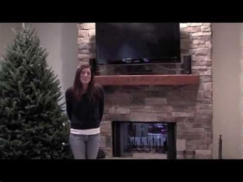 Ledge Stone Fireplace with TV, Lake County IL.mov   YouTube