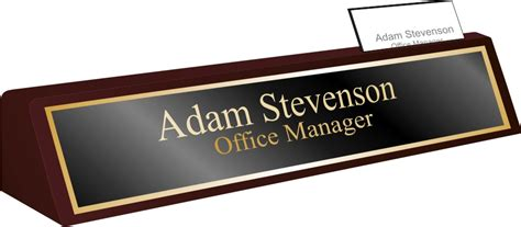 executive desk plates by signsations