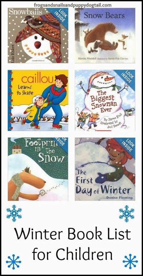 winter books winter book list for children