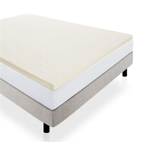 foam bed topper lucid memory foam mattress topper reviews wayfair