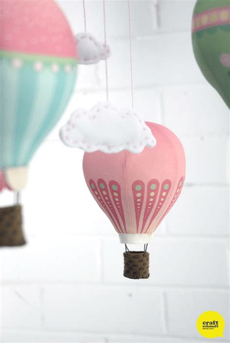 diy hot air balloon mobile kits and fabric panels from