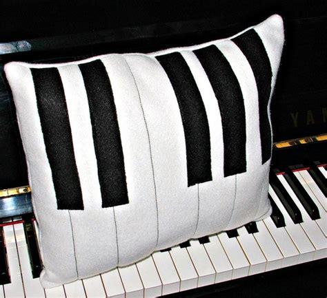 Piano Pillow piano fleece black and white pillow