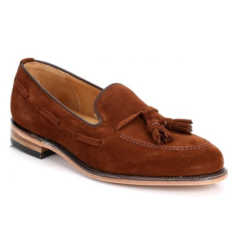 loake loafer loake mens polo brown lincoln suede loafers