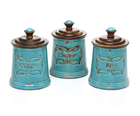 decorative kitchen canisters teal ceramic kitchen canisters reversadermcream