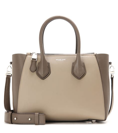 Helena Bag michael kors helena leather shoulder bag in brown lyst