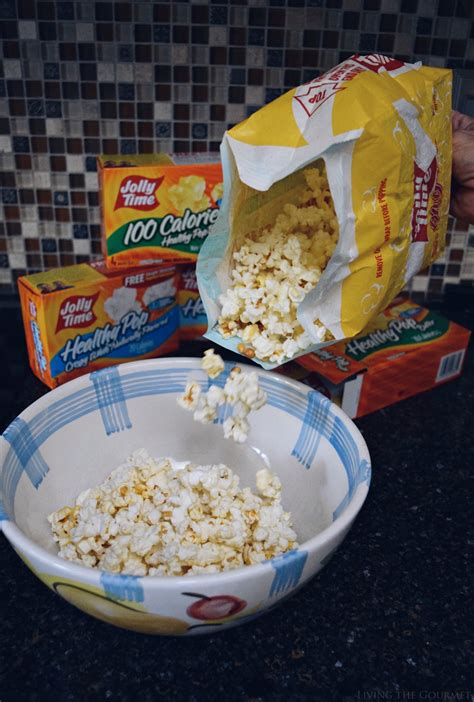 healthy snacking  jolly time pop corn living  gourmet