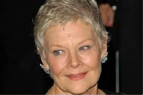 judy dench hairstyle front and back judi dench hairstyle