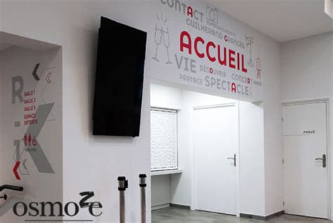 Salle Agora Guilherand Granges by D 233 Coration Murale Et Signal 233 Tique La Salle Agora De