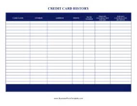 corporate credit analysis template credit card history template