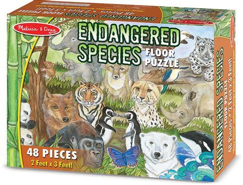 endangered species floor puzzle  pc fun stuff toys