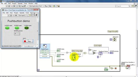 R Runtime State by Ni Myrio Quot Pushbutton Demo Quot Labview Project