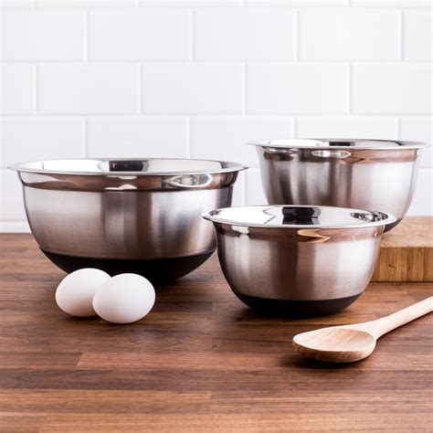 Mixing Bowl Susun 5 ksp pro chef non skid mixing bowls set of 3 kitchen stuff plus