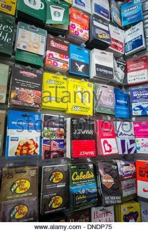 Nyc Gift Cards - a selection of gift cards in a store in new york on wednesday stock photo royalty