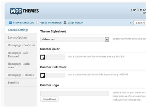 wordpress layout options creating a custom wordpress theme options page