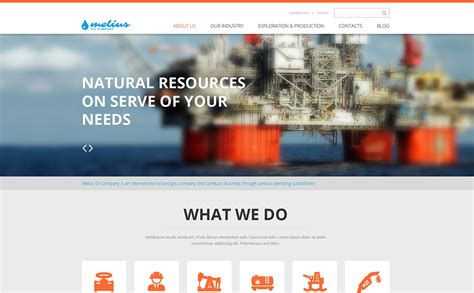 Gas Oil Responsive Website Template 46513 And Gas Company Website Template