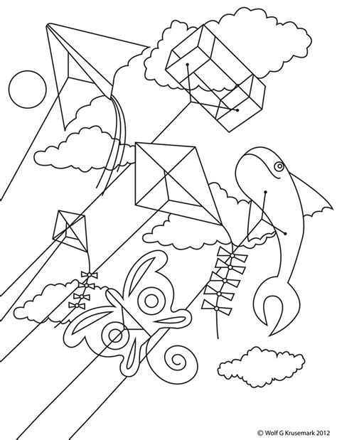printable coloring pages kites kite coloring pages free large images