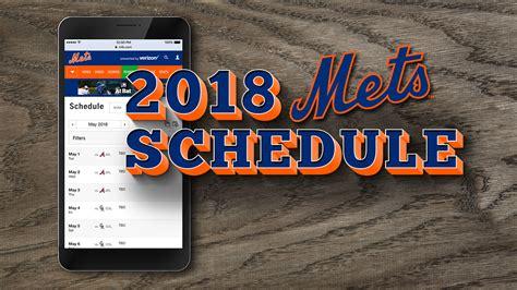 Mets Printable Schedule 2018
