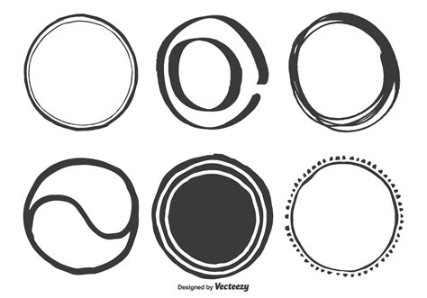 Hand Drawn Assorted Circle Vector Shapes   Download Free