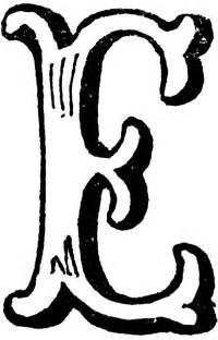 decorative letter e clipart etc