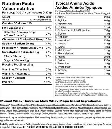 Promo Mutant Whey 2lbs 2 Lbs Whey Protein Mutantwhey Nitro Tech Nitro mutant whey vanilla www supplementscanada