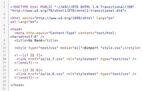 head section html create a killer band site in drupal part 4 theming