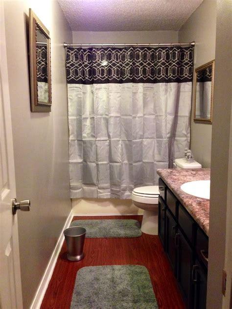 black  silver bathroom flip gray walls white trim