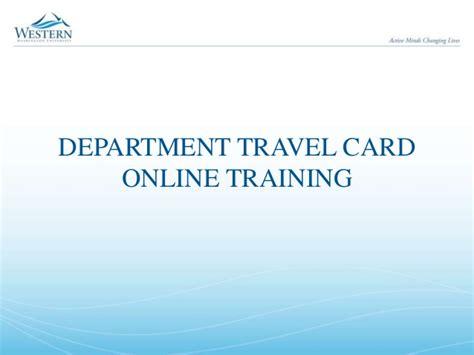 carding online tutorial wwu department travel card online training