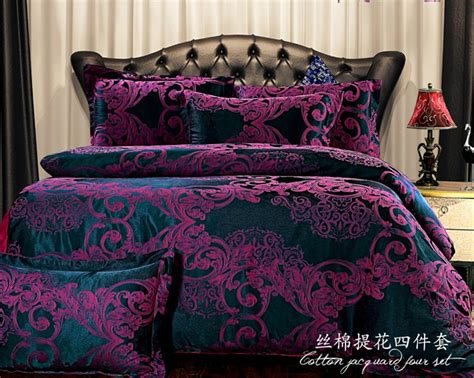 Purple Bedding Sets King European Bedding Sets Purple Bedding Cover Set Brand Bed Set Bedspread King Size Embroidery