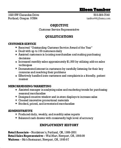 Objective For General Resume by Sle General Objective For Resume 7 Exles In Pdf