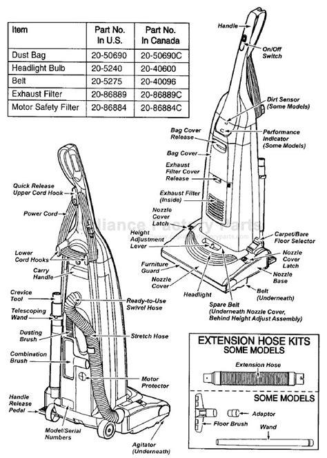 kenmore vacuum model 116 parts diagram kenmore vacuum model 116 manual parts for 116 31612100