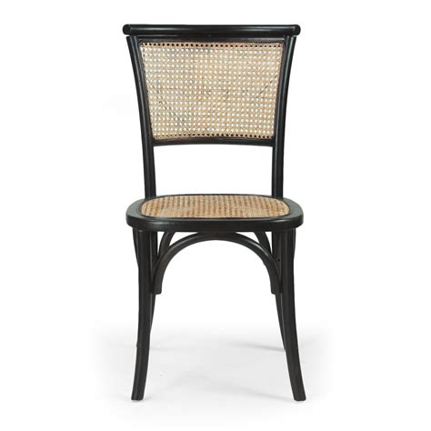 Solid Dining Chairs Joveco Antique Vintage Rattan Solid Elm Wood Dining Chair Set Of 2 Black Jch124 Joveco