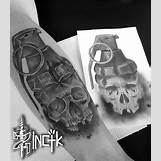 Skeleton Hand Grenade Tattoo | 850 x 976 jpeg 134kB