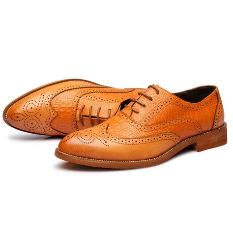 Genuine Leather Brogue Oxfords 2015 new formal shoes genuine leather oxfords shoes