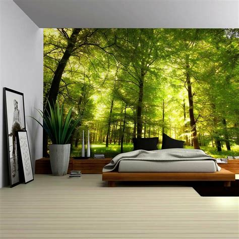 home decor wall murals crowded forest mural wall mural removable sticker home