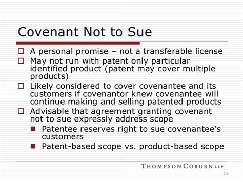 agreement not to sue template basics of licensing ip