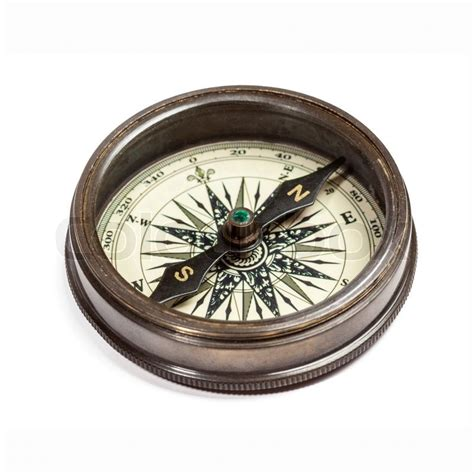 old vintage compass isolated stock photo colourbox