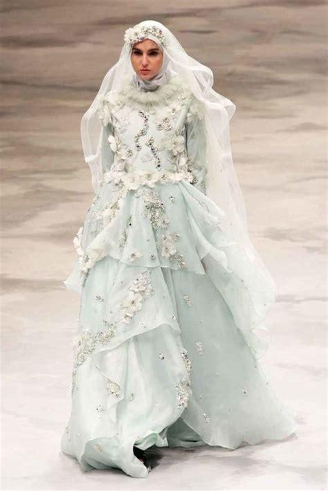 Gamis Syari Bridal 15 inspirasi gaun pernikahan syar i ini bisa dicontek
