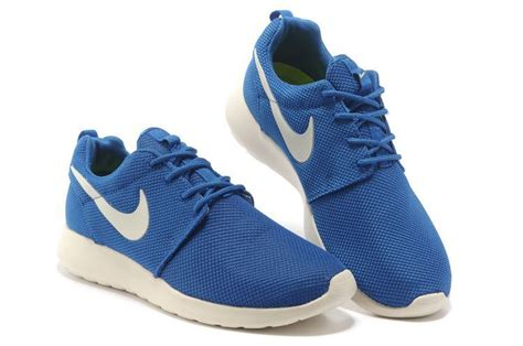 white blue nike shoes best nike roshe run mens blue white mesh shoes shopping