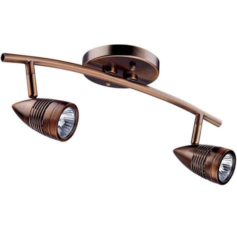 Ideas For Bronze Track Lighting Design Filament Design Celestial 2 Light Rubbed Bronze Track Lighting Kit With Directional Heads