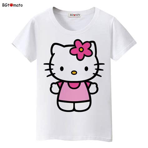 imagenes hello kitty fashion bgtomato new lovely hello kitty cartoon t shirts women